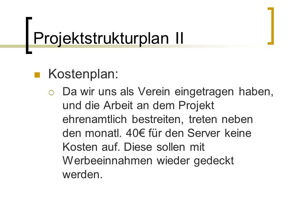 Projektstrukturplan II