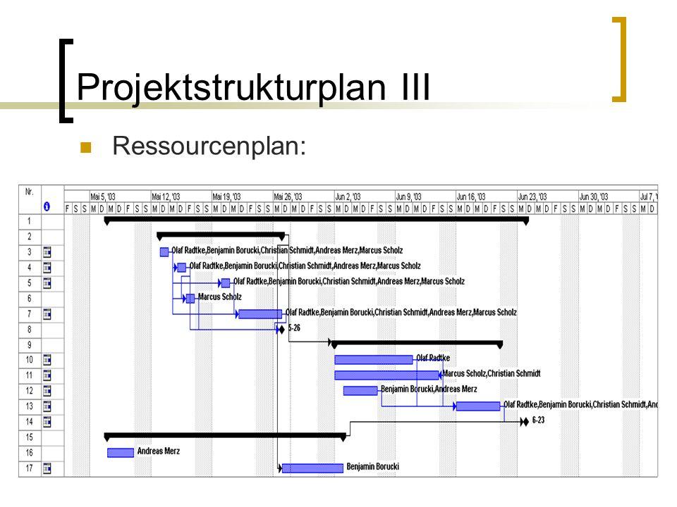 Projektstrukturplan III
