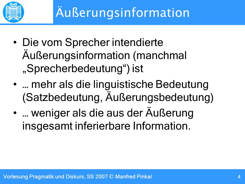 Äußerungsinformation