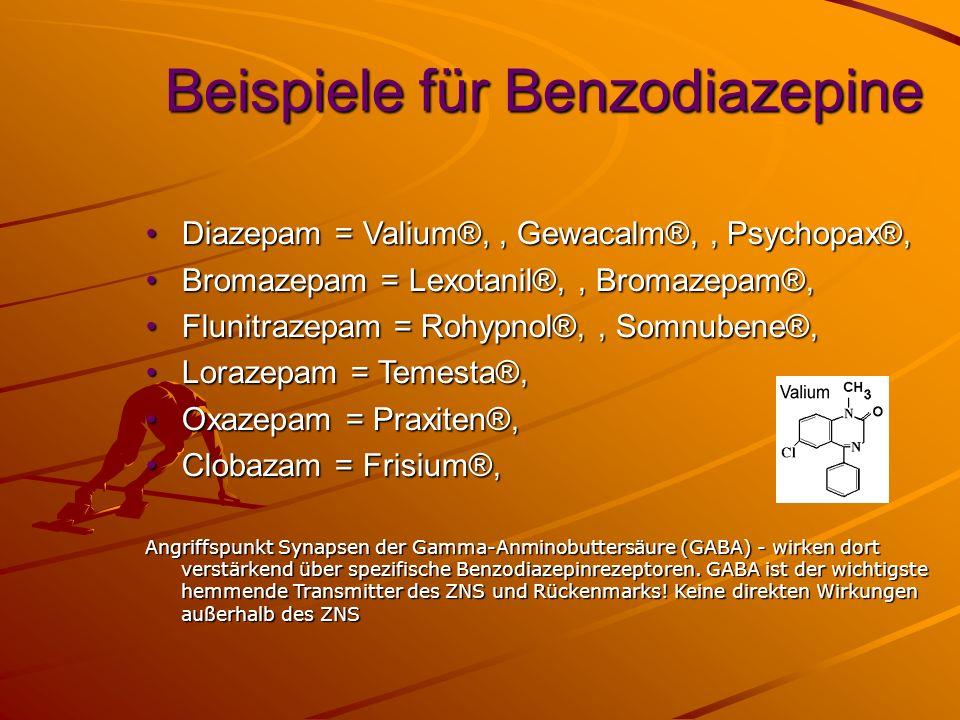 Beispiele für Benzodiazepine