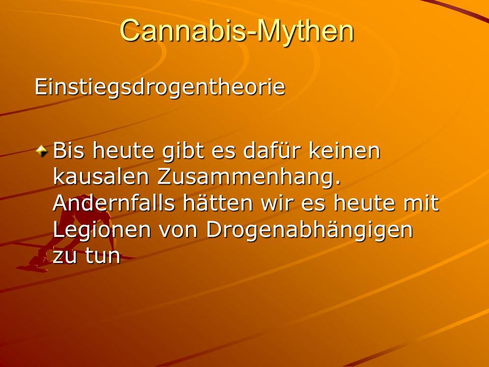 Cannabis-Mythen Einstiegsdrogentheorie