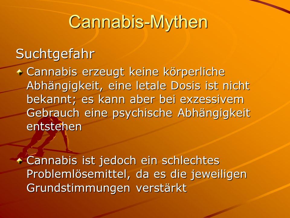 Cannabis-Mythen Suchtgefahr