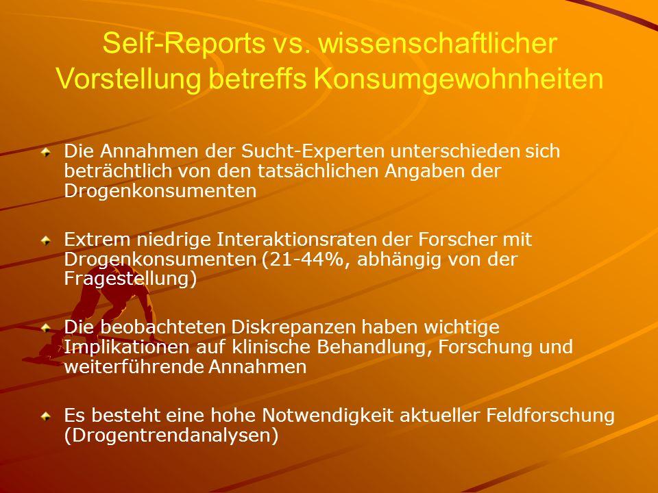 Self-Reports vs. wissenschaftlicher Vorstellung betreffs Konsumgewohnheiten