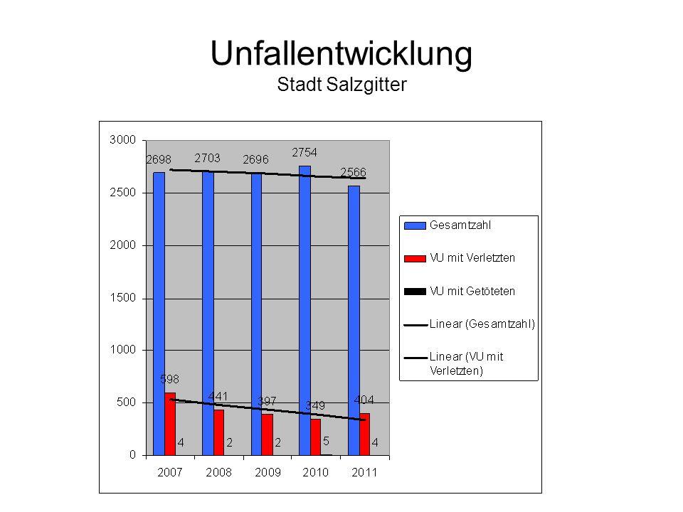 Unfallentwicklung Stadt Salzgitter