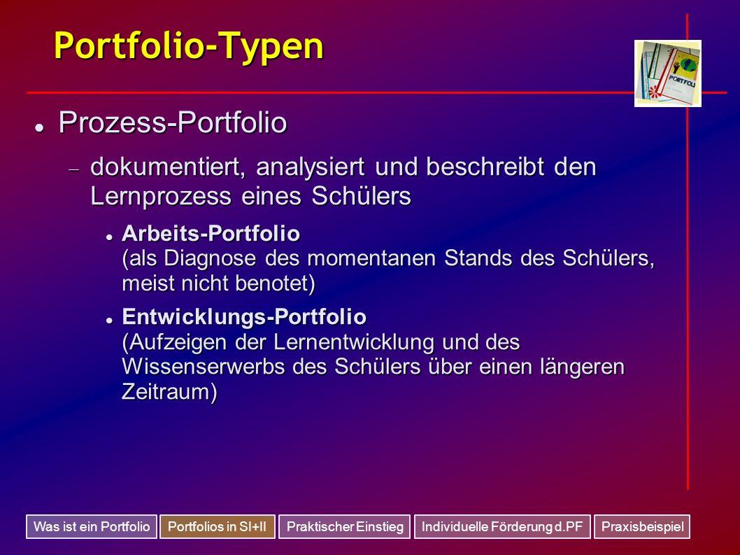 Portfolio-Typen Prozess-Portfolio