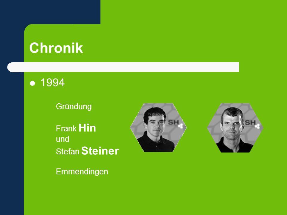 Chronik 1994 Gründung Frank Hin und Stefan Steiner Emmendingen