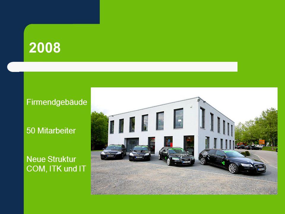 2008 Firmendgebäude 50 Mitarbeiter Neue Struktur COM, ITK und IT