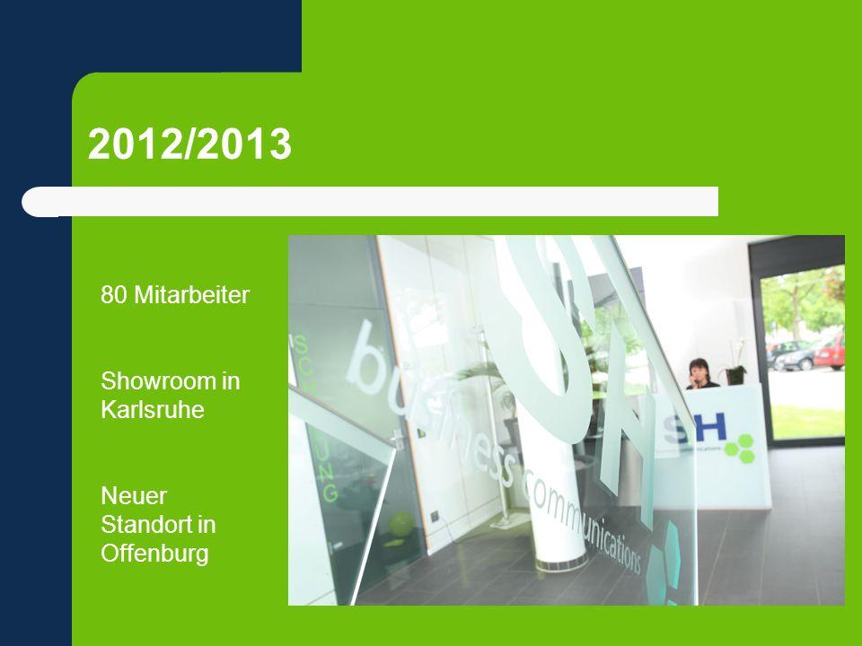 2012/2013 80 Mitarbeiter Showroom in Karlsruhe