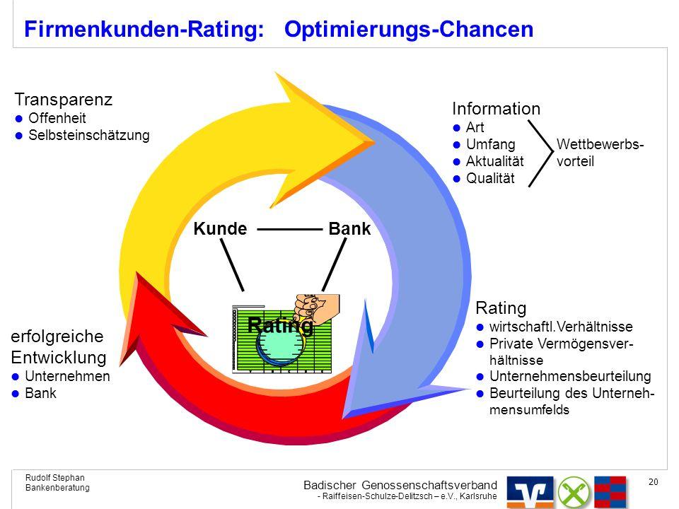 Firmenkunden-Rating: Optimierungs-Chancen