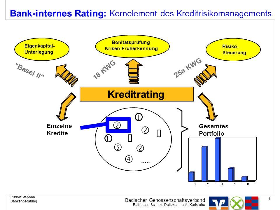 Bank-internes Rating: Kernelement des Kreditrisikomanagements