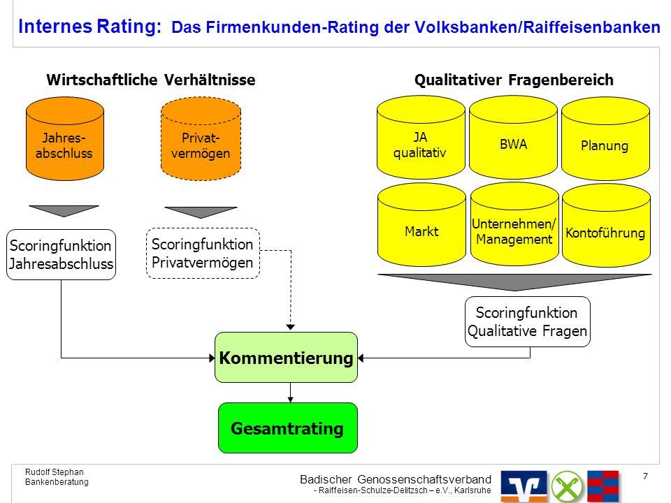 Internes Rating: Das Firmenkunden-Rating der Volksbanken/Raiffeisenbanken