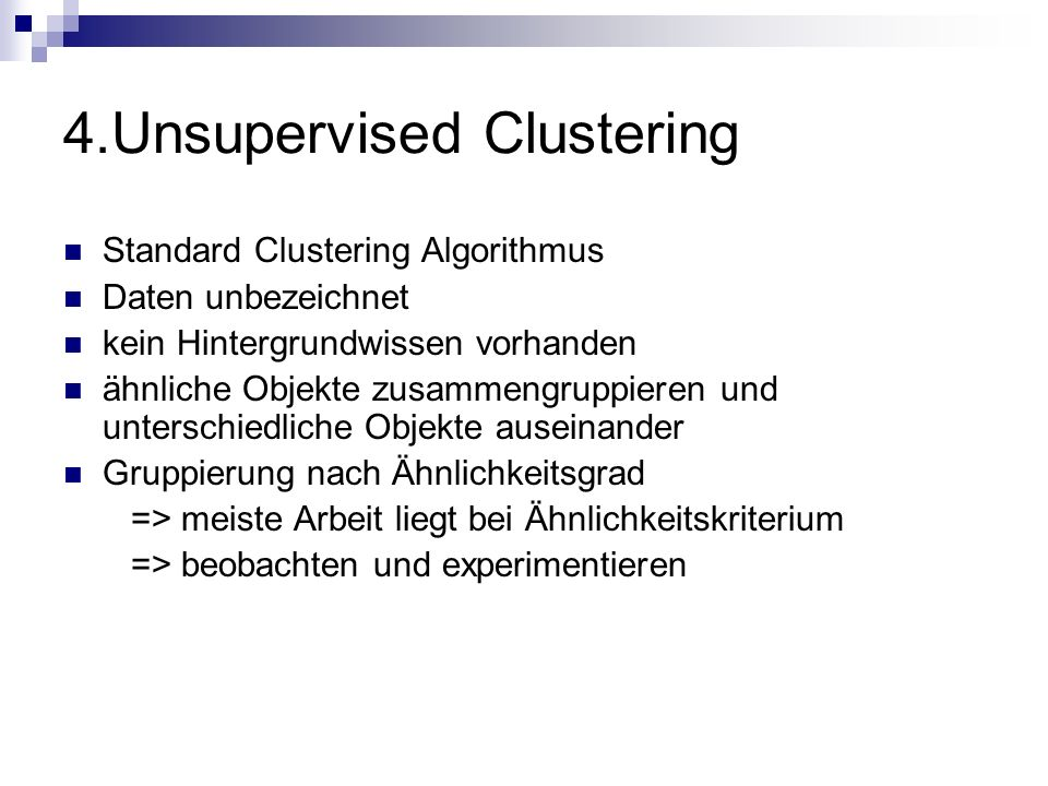 4.Unsupervised Clustering