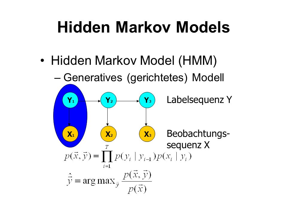 Hidden Markov Models Hidden Markov Model (HMM)