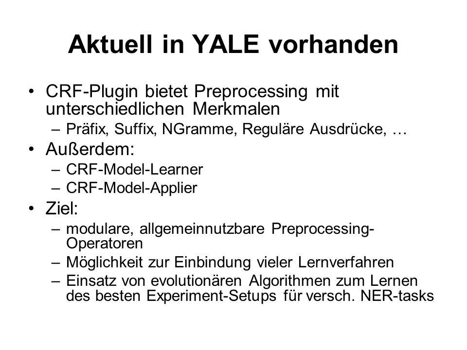 Aktuell in YALE vorhanden