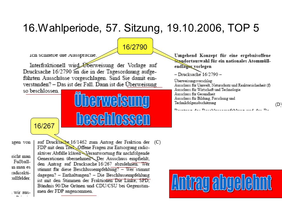 16.Wahlperiode, 57. Sitzung, 19.10.2006, TOP 5