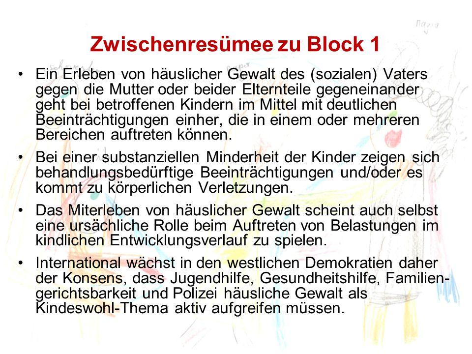 Zwischenresümee zu Block 1
