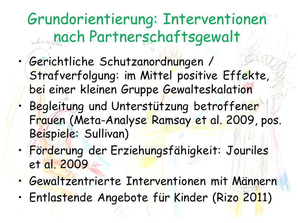 Grundorientierung: Interventionen nach Partnerschaftsgewalt