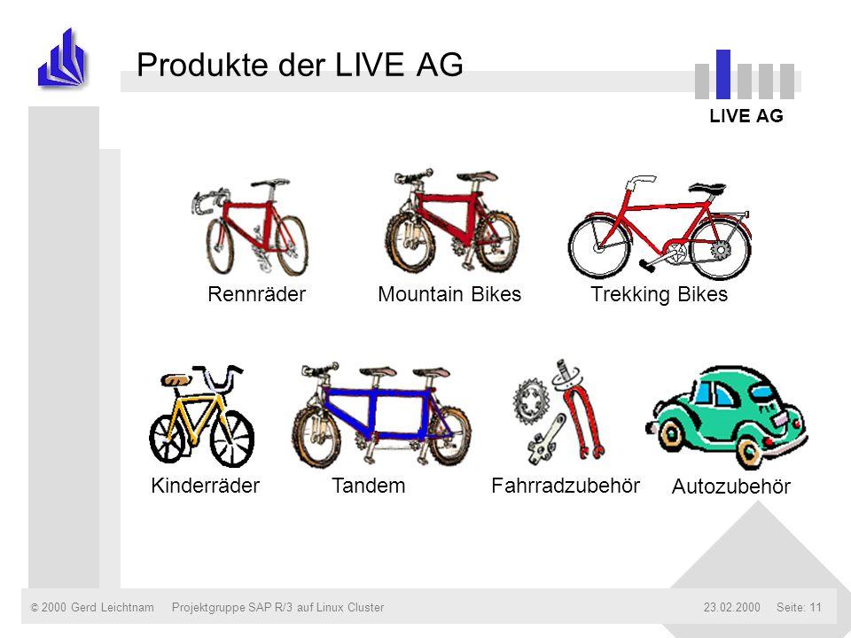 Produkte der LIVE AG Rennräder Mountain Bikes Trekking Bikes