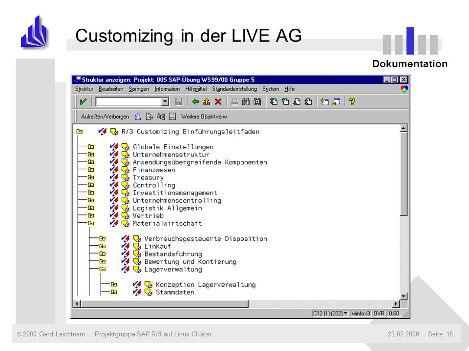 Customizing in der LIVE AG