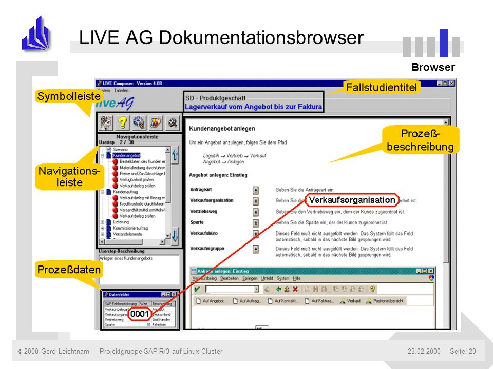 LIVE AG Dokumentationsbrowser