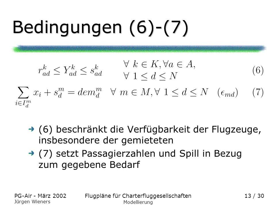 Bedingungen (6)-(7)