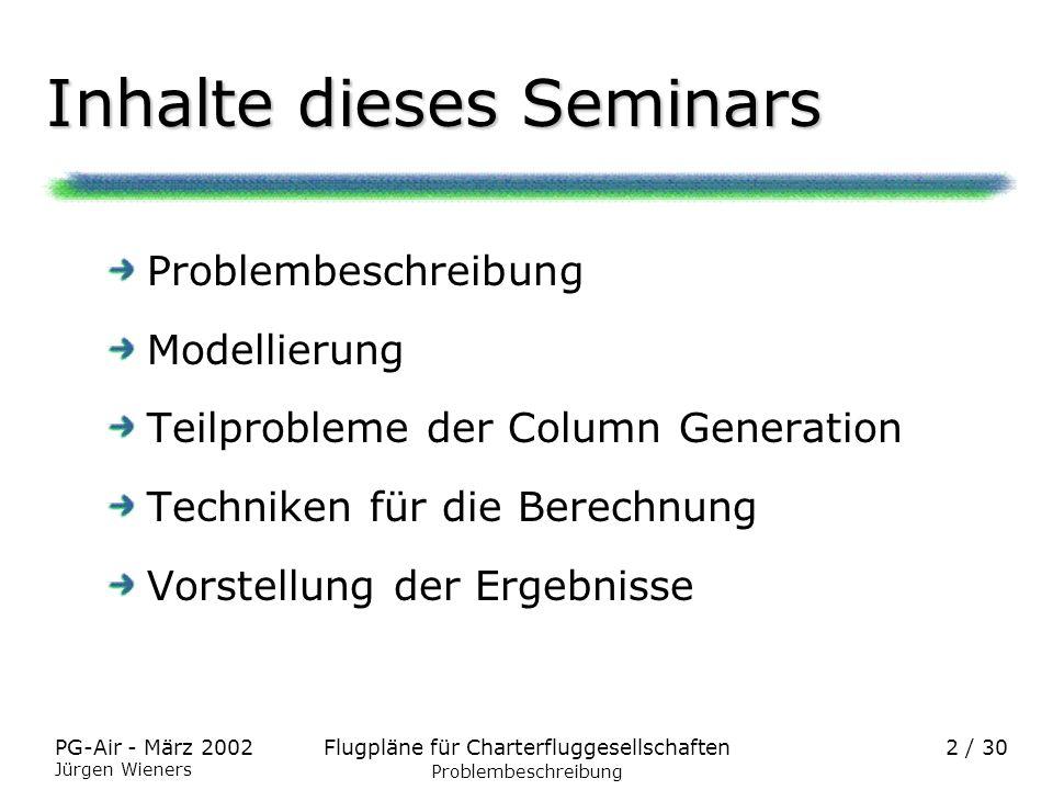 Inhalte dieses Seminars