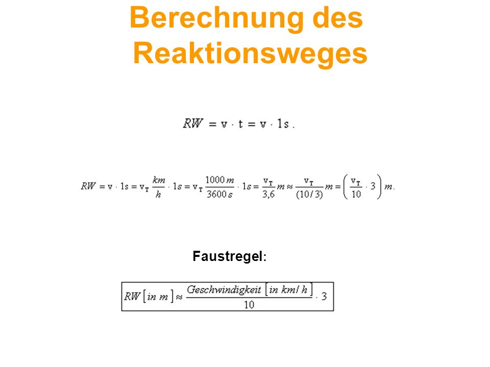 Berechnung des Reaktionsweges