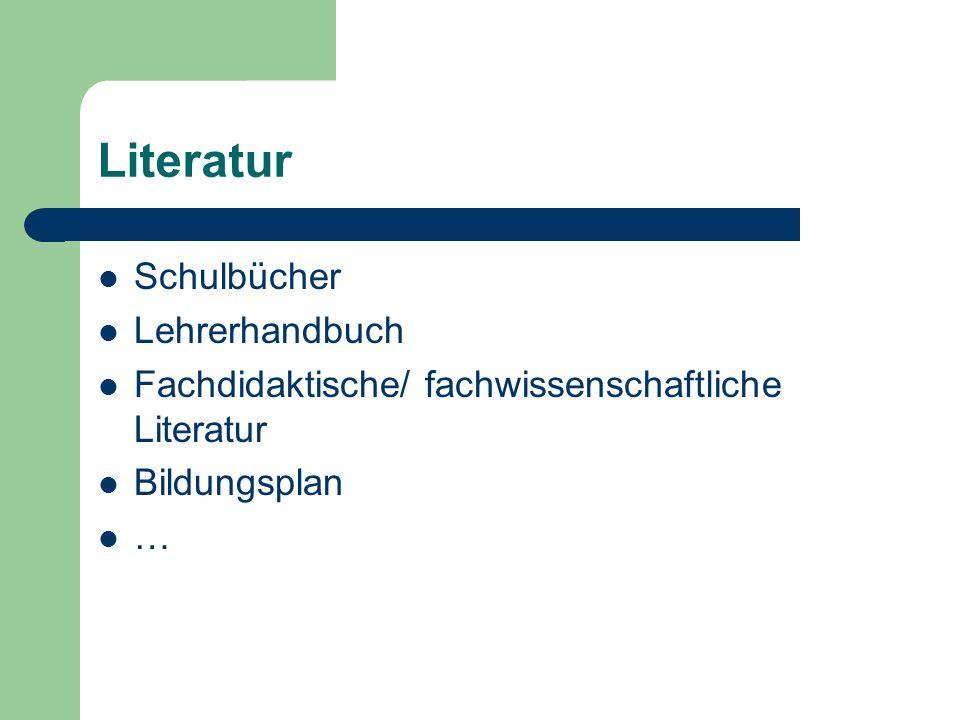 Literatur Schulbücher Lehrerhandbuch