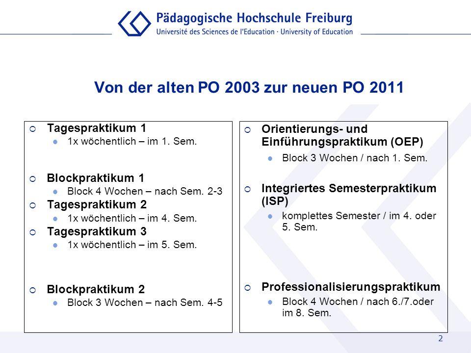 Von der alten PO 2003 zur neuen PO 2011