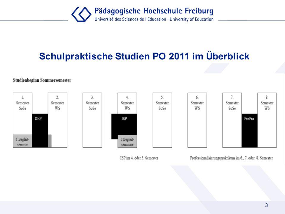 Schulpraktische Studien PO 2011 im Überblick