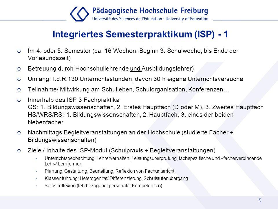 Integriertes Semesterpraktikum (ISP) - 1