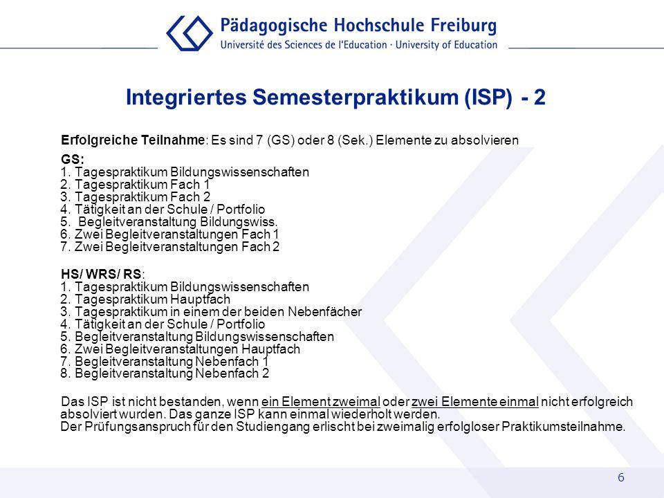 Integriertes Semesterpraktikum (ISP) - 2