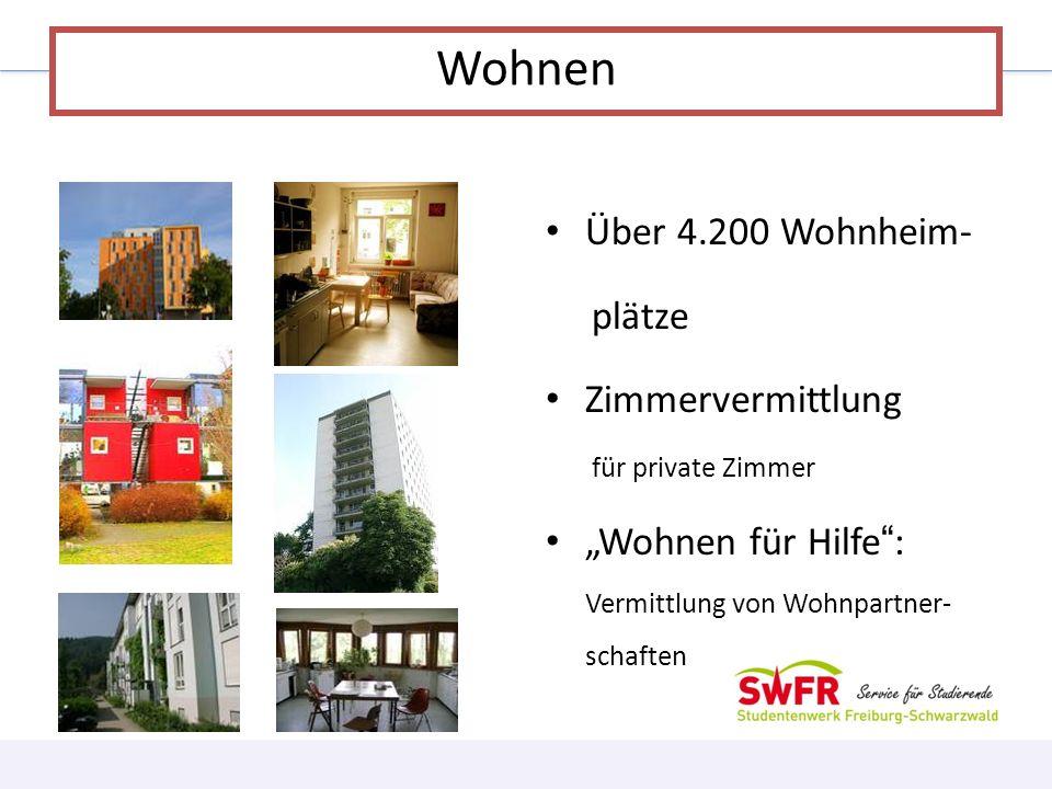 Wohnen Über 4.200 Wohnheim- plätze Zimmervermittlung