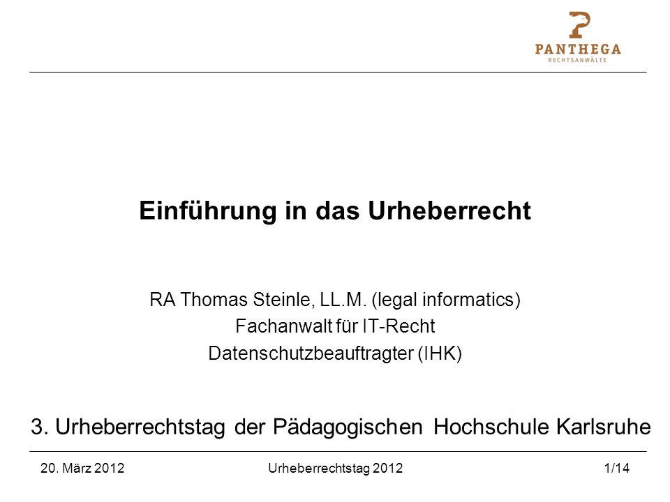 Einführung in das Urheberrecht