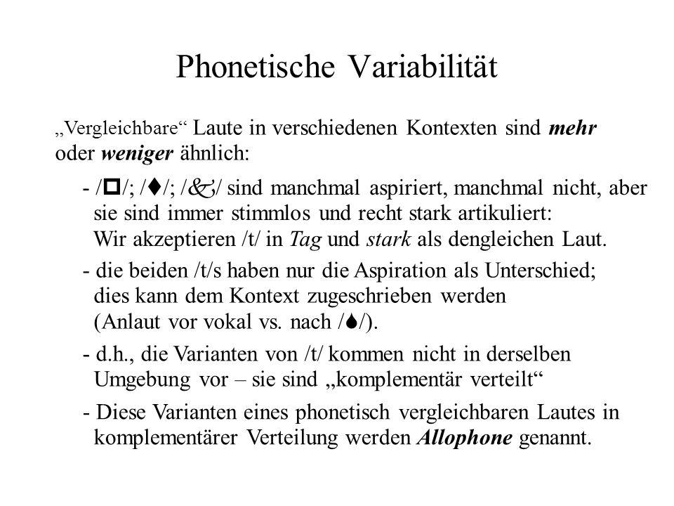 Phonetische Variabilität