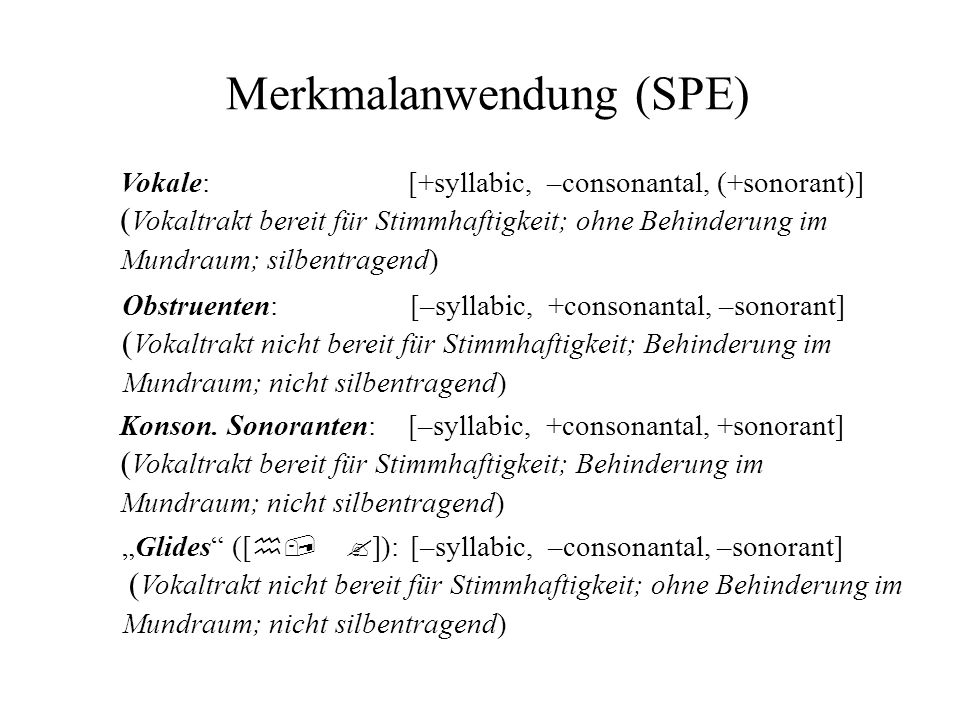 Merkmalanwendung (SPE)