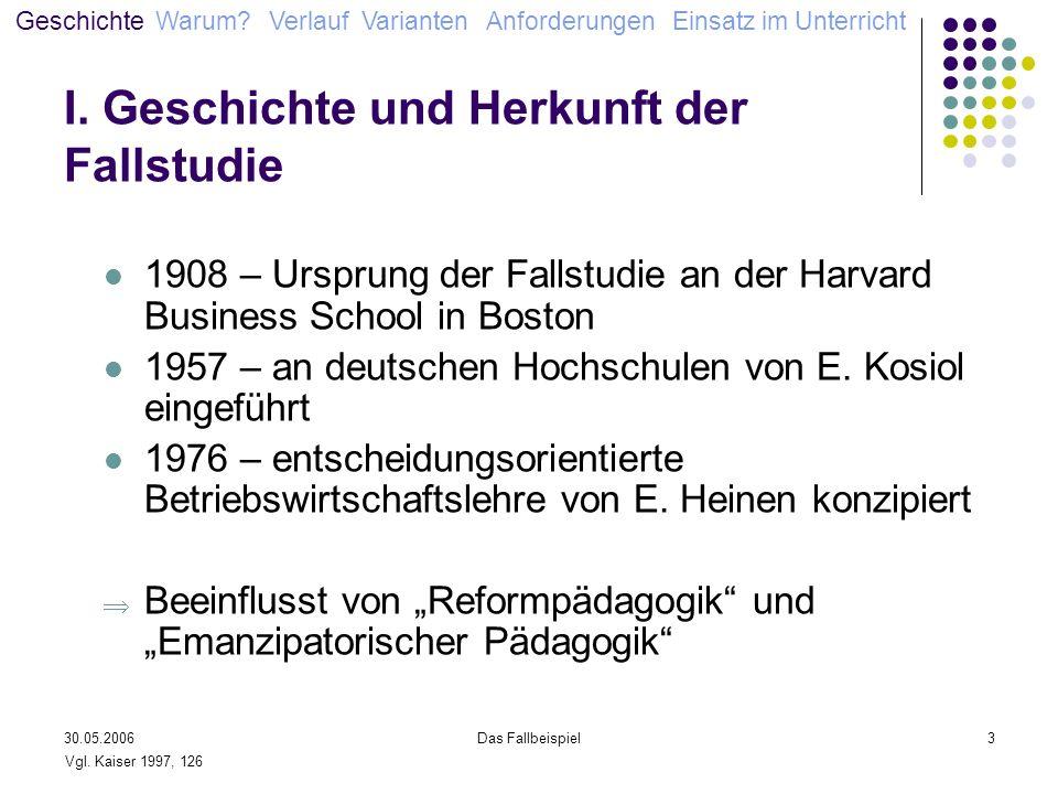 I. Geschichte und Herkunft der Fallstudie