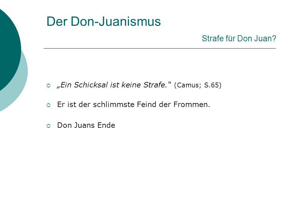 Der Don-Juanismus Strafe für Don Juan