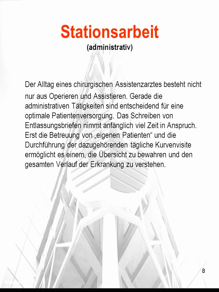 Stationsarbeit (administrativ)