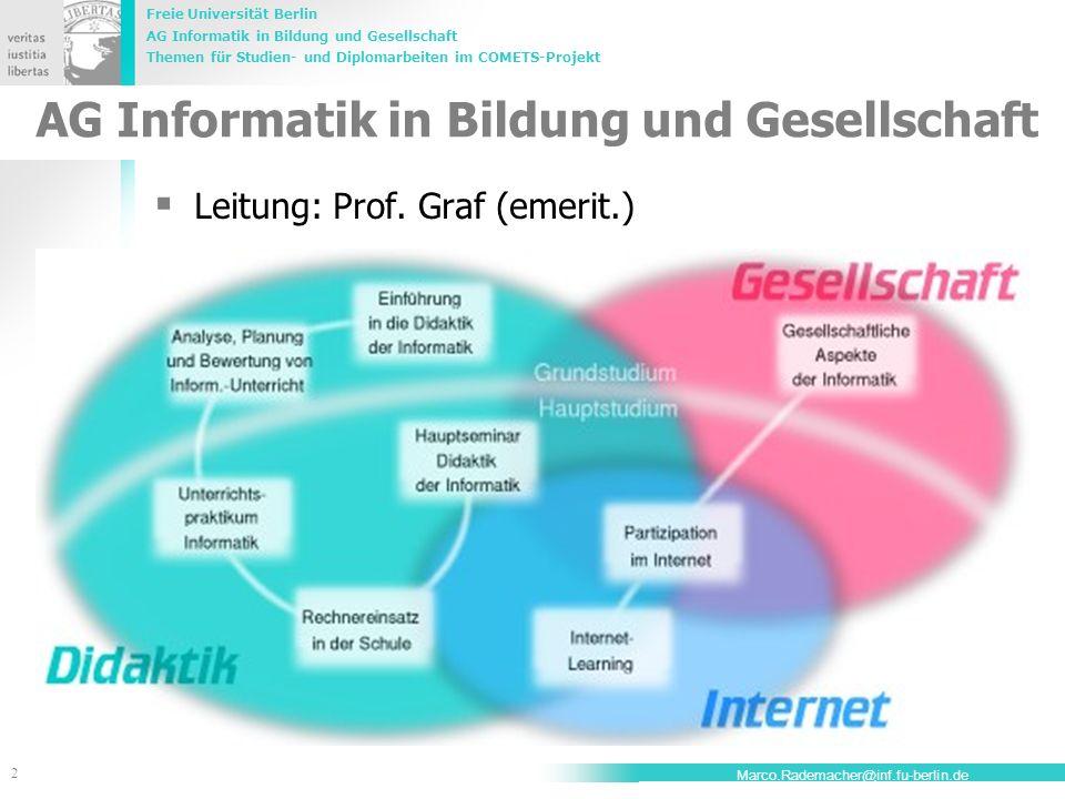 AG Informatik in Bildung und Gesellschaft