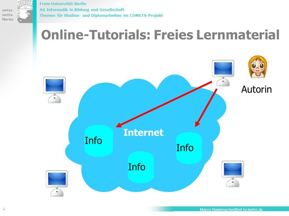 Online-Tutorials: Freies Lernmaterial