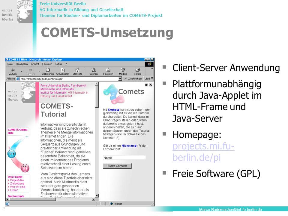 COMETS-Umsetzung Client-Server Anwendung