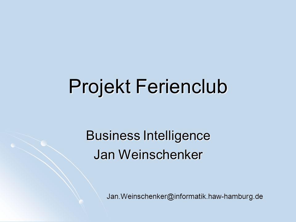Business Intelligence Jan Weinschenker