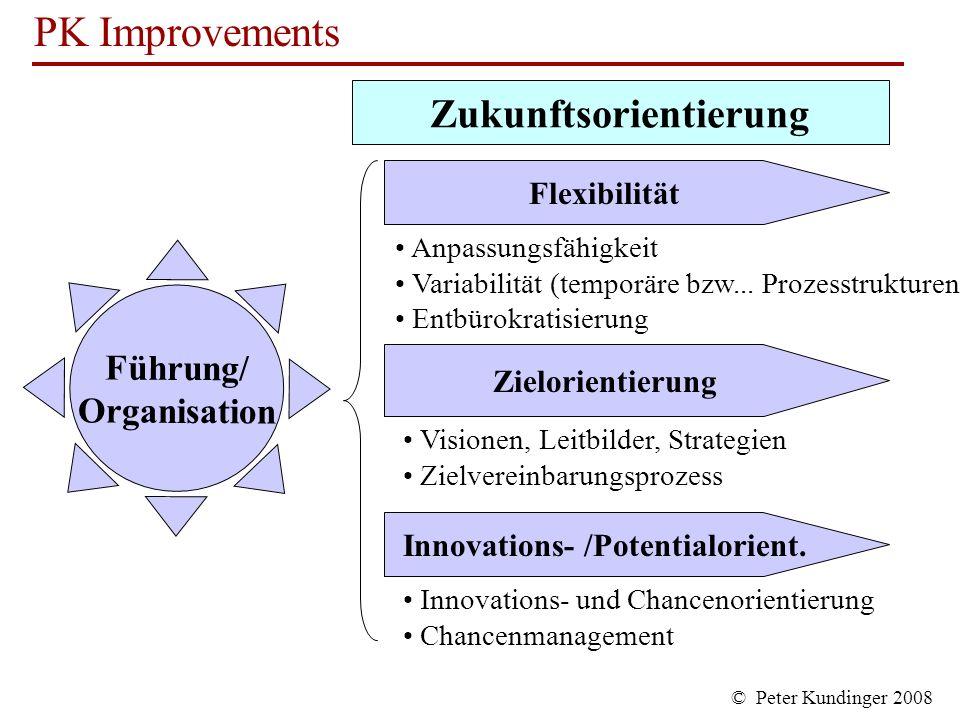 Zukunftsorientierung Innovations- /Potentialorient.