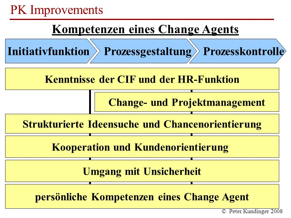 Kompetenzen eines Change Agents