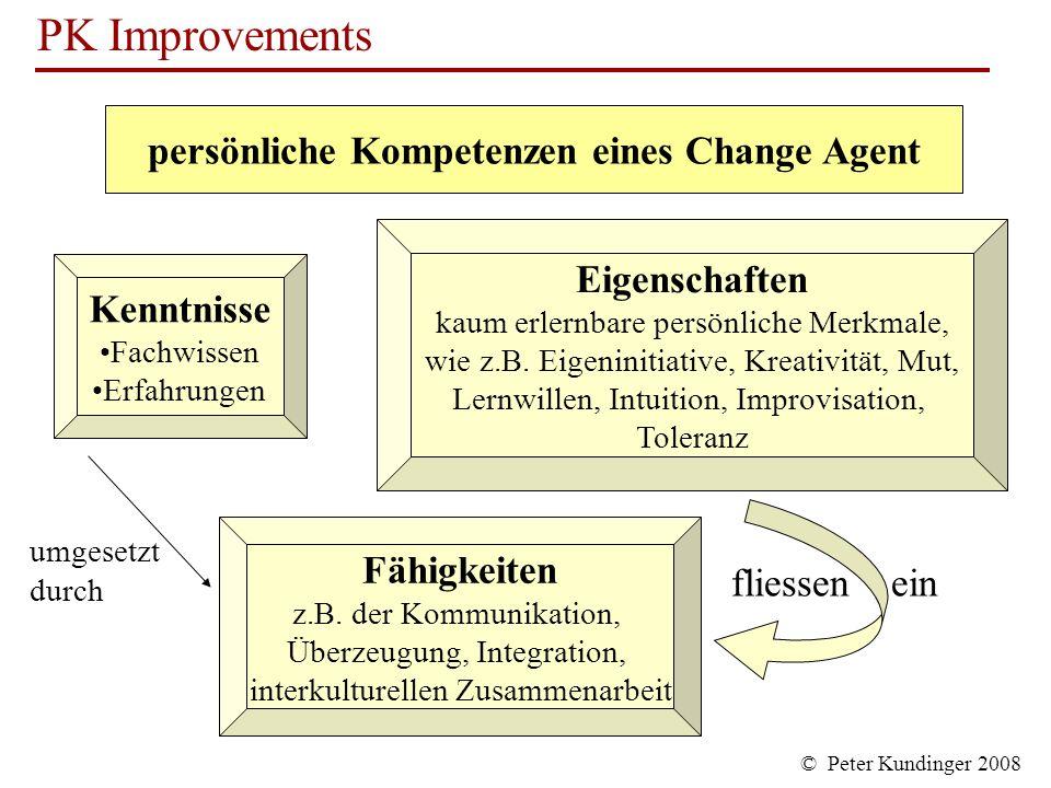 persönliche Kompetenzen eines Change Agent