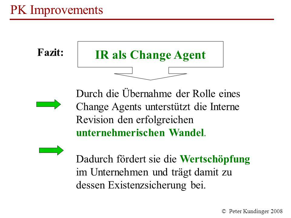 IR als Change Agent Fazit:
