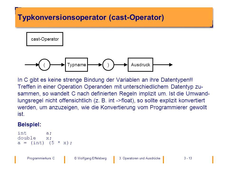 Typkonversionsoperator (cast-Operator)