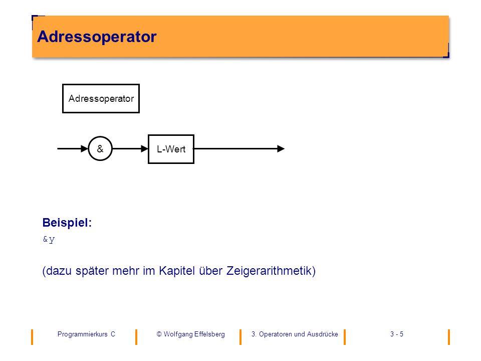 Adressoperator Beispiel:
