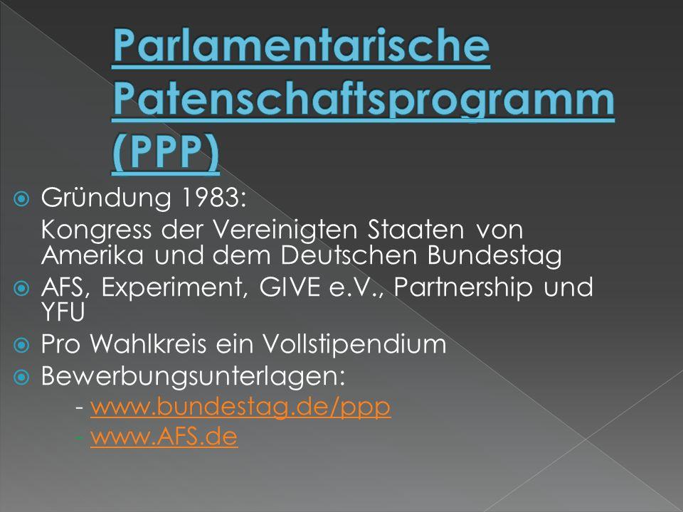 Parlamentarische Patenschaftsprogramm (PPP)
